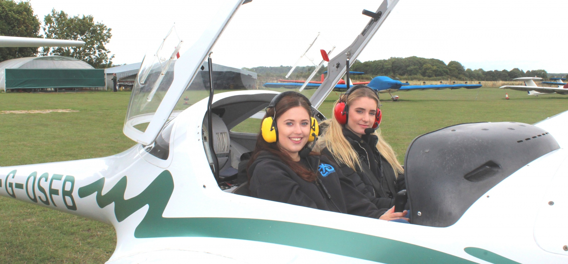 Ladies Learning to Motor Glide