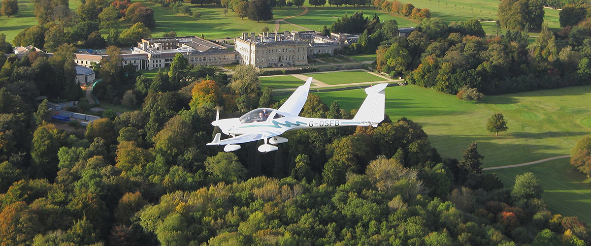 Motor Glider Over Heythrop Resort