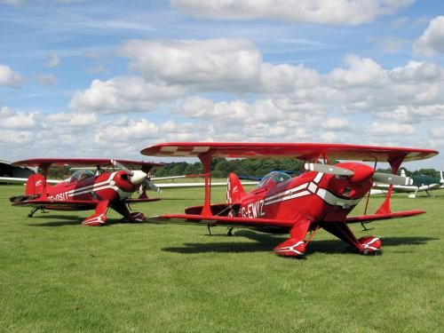 Red Bi Planes at Enstone Airfield