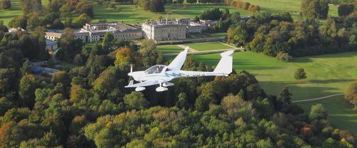 Motor Glider Over Heythrop Resort